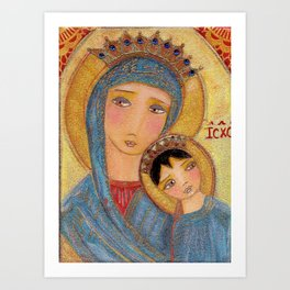 Our Lady of Perpetual Help by Flor Larios Art Print