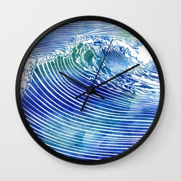Atlantic Waves Wall Clock