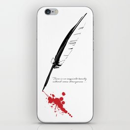 Edgar Allan Poe - Strangeness iPhone Skin