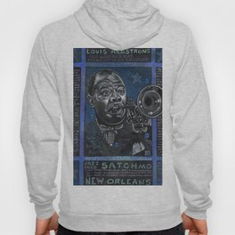 Louis Armstrong in Blue Hoody