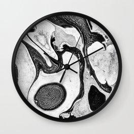 Marbling - I Wall Clock