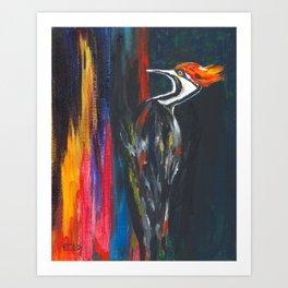 Fire Bird (Pileated Woodpecker) Art Print