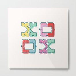 Color-Blocked XOXO Metal Print