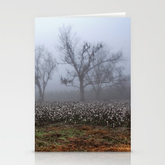 Foggy Cotton Field Stationery Cards