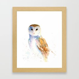 Evening Barn Owl Framed Art Print