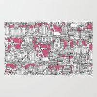 bubblegum Area & Throw Rugs featuring NOTTINGHAM BUBBLEGUM by Sharon Turner
