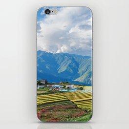 Farm in Bhutan eastern mountains iPhone Skin
