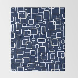 On The Quad - Navy Blue Throw Blanket