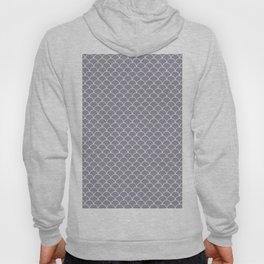 Small scallop pattern in lilac-gray Hoody