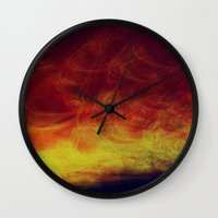 desert Wall Clocks featuring desert by donphil