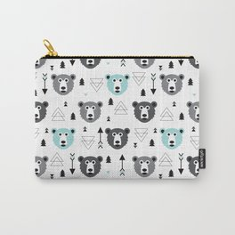 Geometric grizzly bear and arrows Carry-All Pouch
