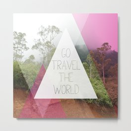 Travel the world Indonesia photography smokey mountain and typography print Metal Print
