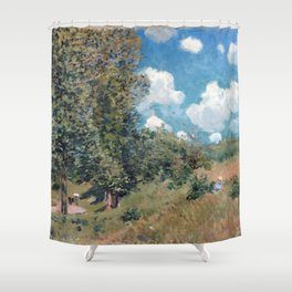 Alfred Sisley The Road from Versailles to Saint-Germain Shower Curtain