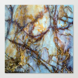 Natural turquoise and gold stone Canvas Print