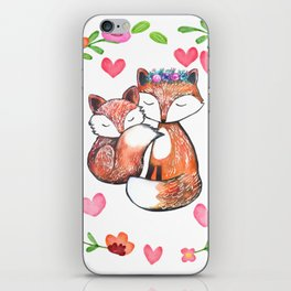 Mama Fox and Baby iPhone Skin