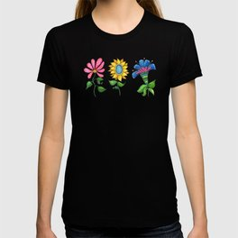 Three Dancing Flowers T-shirt