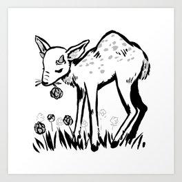Humpy fawn Art Print