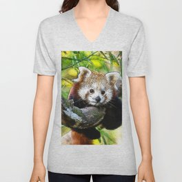 CArt red Panda Baby Unisex V-Neck