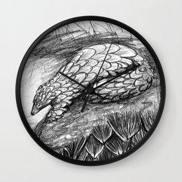Pangolins Wall Clock