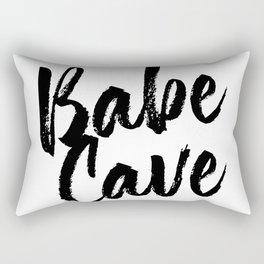 Babe Cave Bold Script Rectangular Pillow