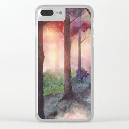Into The Forest VII Clear iPhone Case