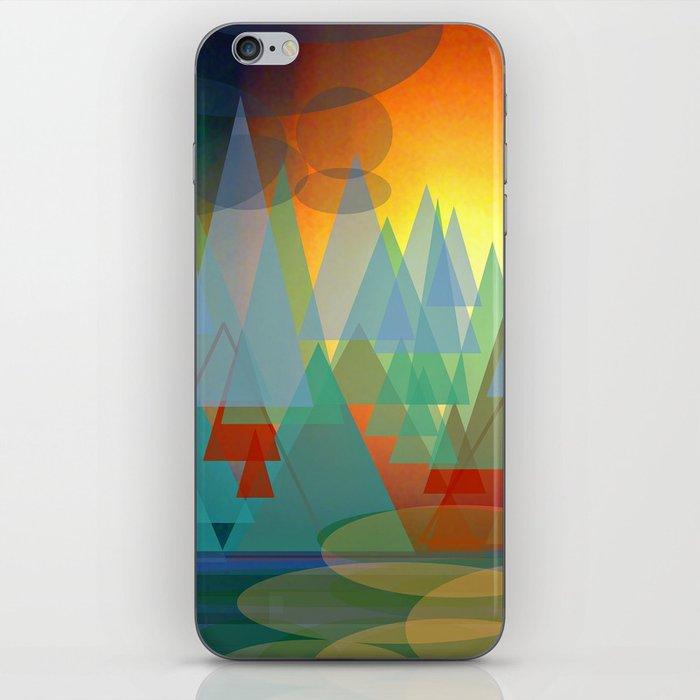 Alpine Sunset iPhone Skin