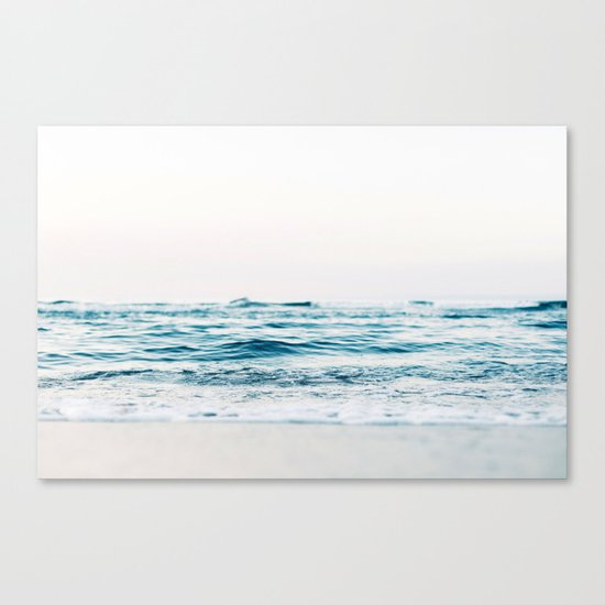 Sea water blue 8 Canvas Print
