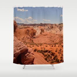 Red Valley II Shower Curtain