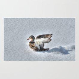 Angel - Wildlife Duck HDR Photo Print Rug