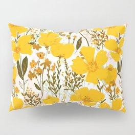 Yellow roaming wildflowers Pillow Sham