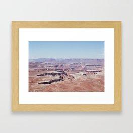 Hazy Desert Canyon Landscape Framed Art Print