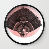 headdress Wall Clocks featuring ::headdress:: by eve orea