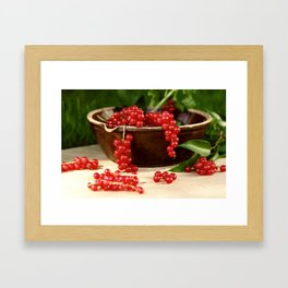 Delicious berries in still life Framed Art Print