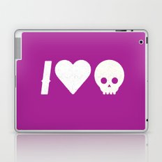 I Love Skulls Laptop & iPad Skin