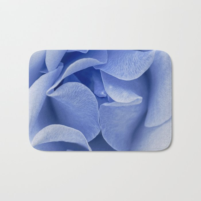 Blue flora Rose Bud- Roses and flowers Bath Mat
