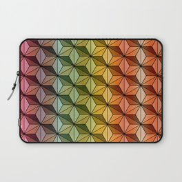 Wooden Asanoha Colorful Laptop Sleeve