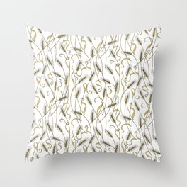 Art Nouveau - Scattered Wheat Throw Pillow