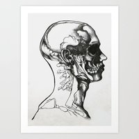 anatomy Art Prints featuring Anatomy  by Cjillustrations