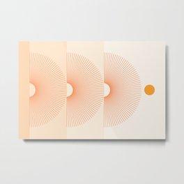 Abstraction_NEW_SUN_LINE_GRADIENT_POP_ART_Minimalism_028AD Metal Print
