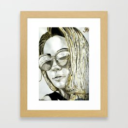 BLACK WHITE AND A LITTLE GOLD COLLECTION Framed Art Print