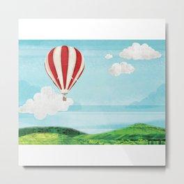 Balloon Ride Metal Print