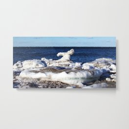Abstract Ice Sculpture Metal Print