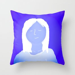 Blue In The Face Alien Throw Pillow