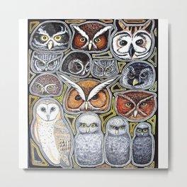 Owls Metal Print