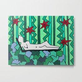 Jungle Nudie Metal Print