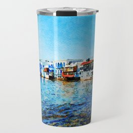 Little Venice at Mykonos Travel Mug
