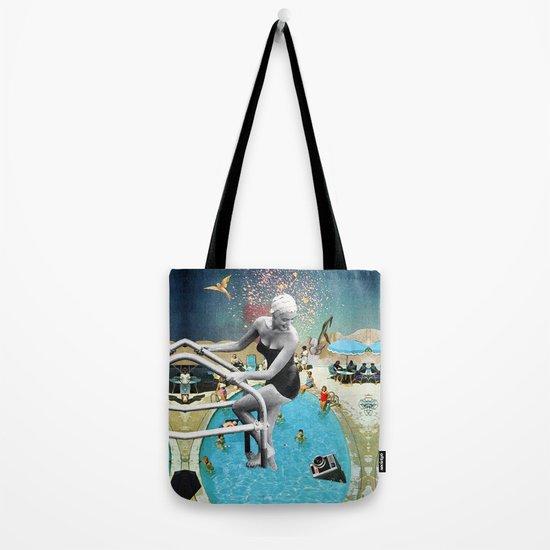 Happy Hippy Hippo Tote Bag