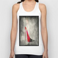 shoe Tank Tops featuring Painted Shoe by V.L. Durand