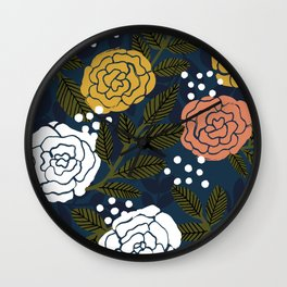 Vintage Rose Garden Wall Clock