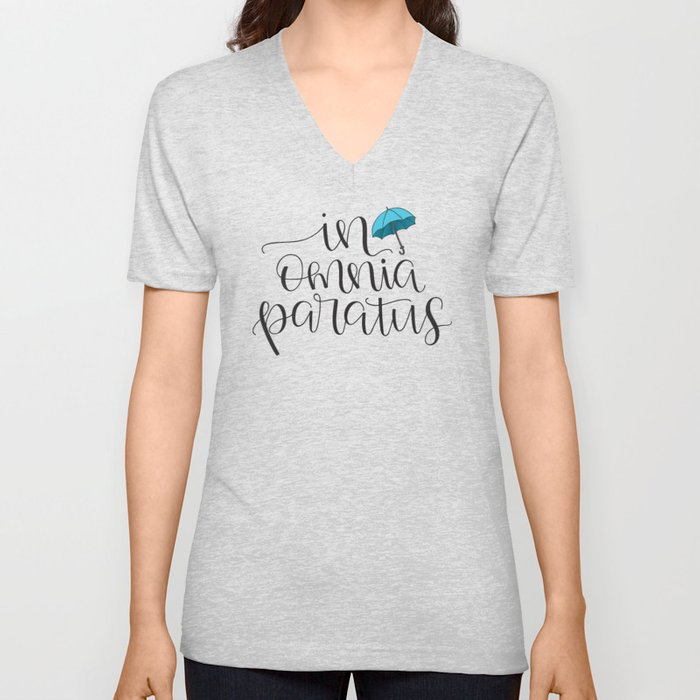 In Omnia Paratus - Ready for Anything -Gilmore Girls Quote Unisex V-Neck